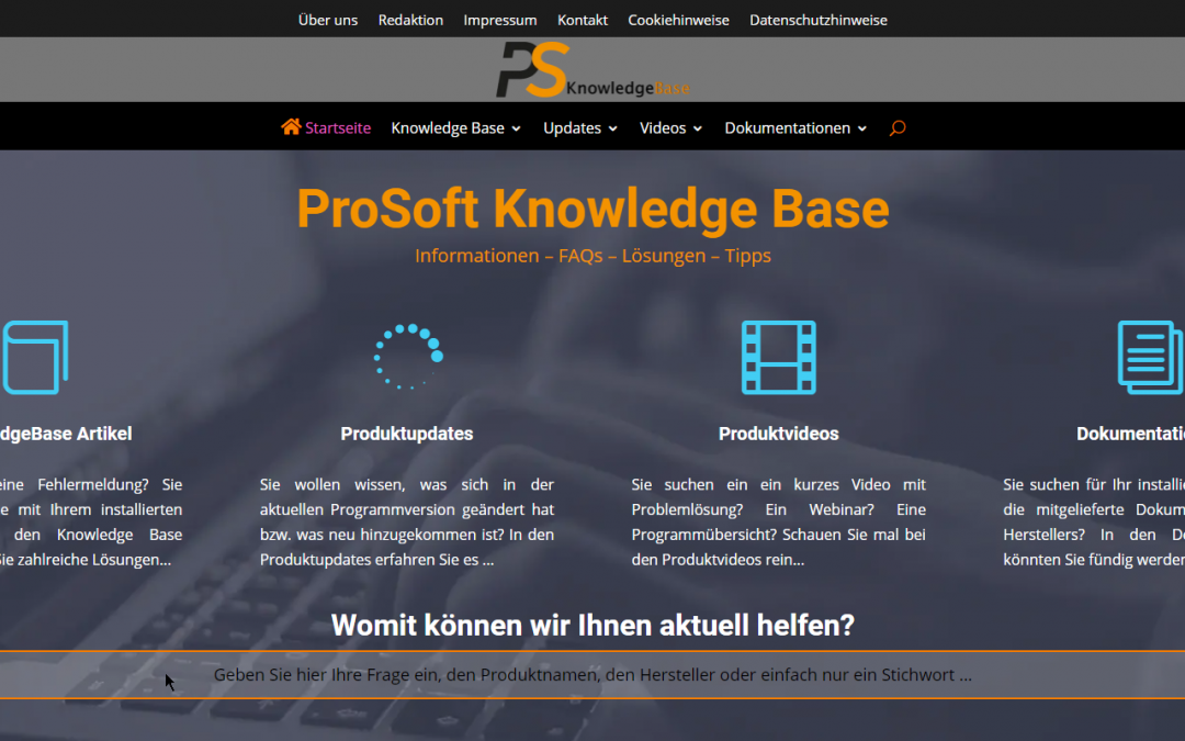 Relaunch der ProSoft Knowledge Base v3