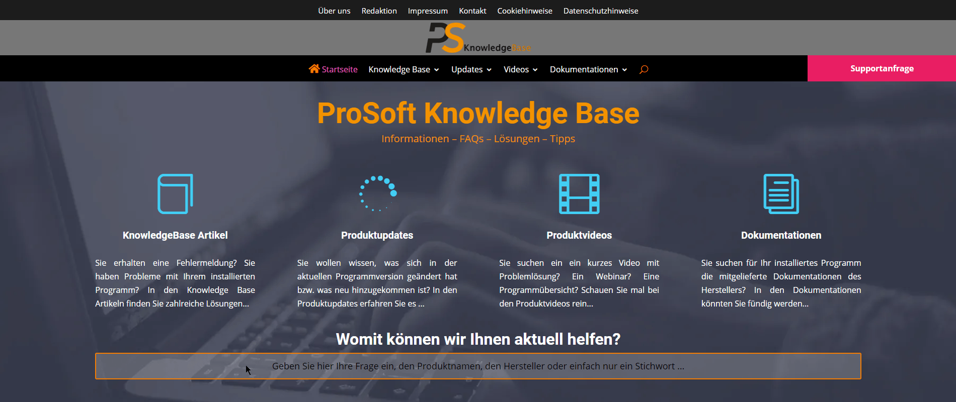 ProSoft Knowledge Base v3 - Startseite