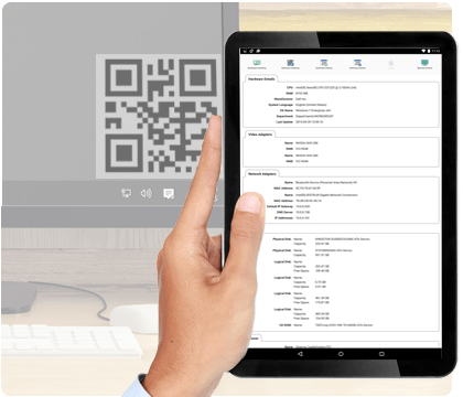 IT-Asset-Management NetSupport DNA: Asset Erkennung über QR-Code