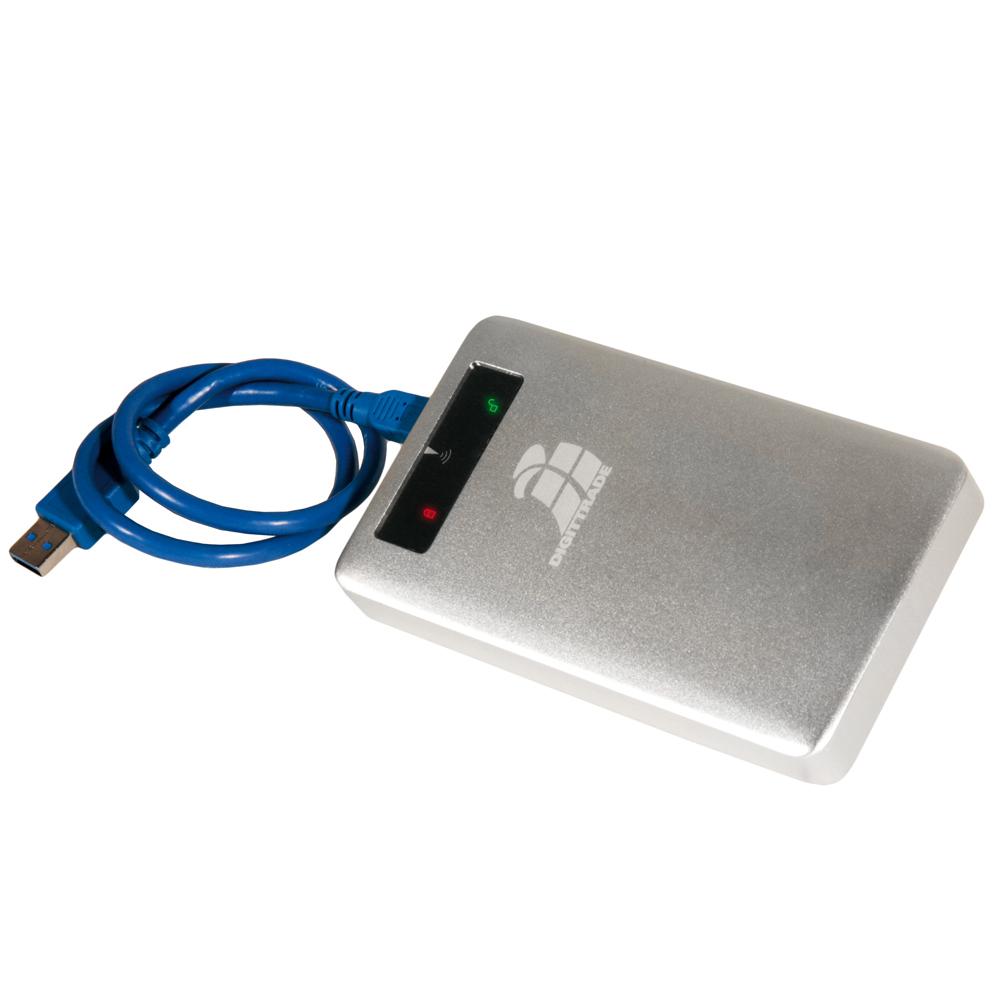 Digittrade RS256 RFID mit mitgelieferten USB-Kabel