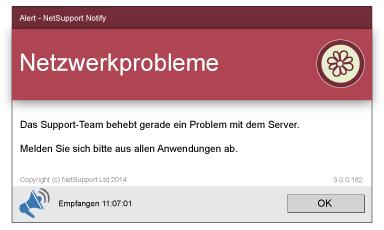 NetSupport Notify Desktop Alerting Netzwerkprobleme