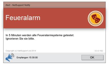 NetSupport Notify Desktop Alerting Feueralarm