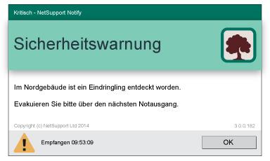NetSupport Notify Desktop Alerting Evakuierung