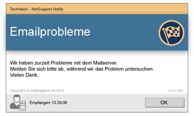 NetSupport Notify Desktop Alerting Anwenderinformation