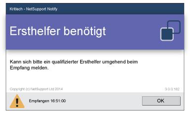 NetSupport Notify Desktop Alerting Notfall