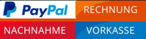 Paypal, Rechnung, Nachnahme, Vorkasse